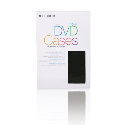 31uClkU8%2BvL Memorex 2 Disc DVD Movie Cases   10 Pack