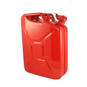 "NEW NATO Red ""Jerry"" 20 Liter Steel Fuel Cans"