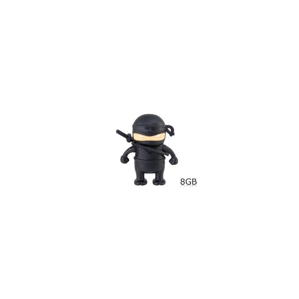 Ninja Shaped 8GB USB Flash Drive (Black)