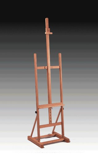 Deluxe Studio Easel, Professional Floor Standing, Elm Finished