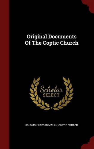 Original Documents Of The Coptic Church