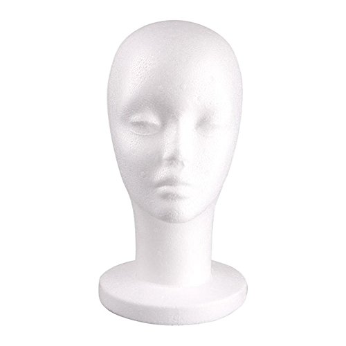 Banggood Female Styrofoam Mannequin Manikin Head Model Foam Display