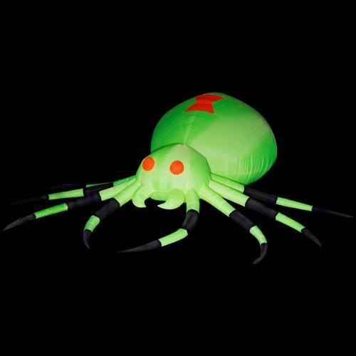 Gemmy Night Glo Neon Airblown Giant Spider W/ Blacklight front-981248