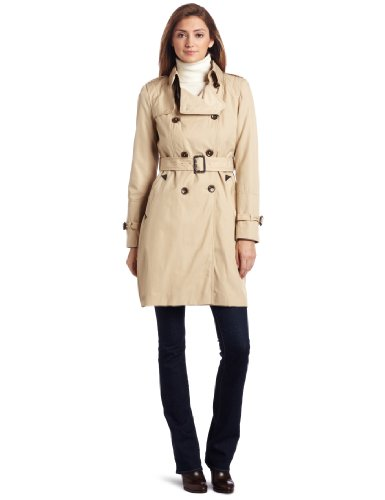 Vince Camuto Women's Double Breasted Rain Trench Coat