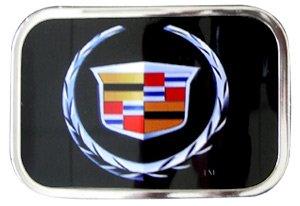 Licensed CADILLAC LOGO Belt Buckle Chrome frame