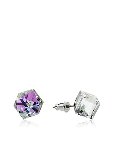 Crystal from Swarovski Pendientes Morado
