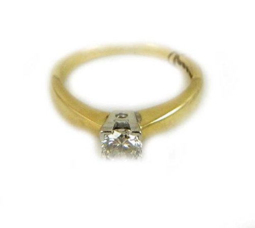 SMALL 18CT YELLOW GOLD DIAMOND RING APPROX 15PTS
