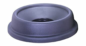 "CMC 4457GY Grey Funnel Top Lid, 24"" Diameter x 5-1/2"" Height, For Huskee 44 gallon Recycle Trash Can (Case of 4)"