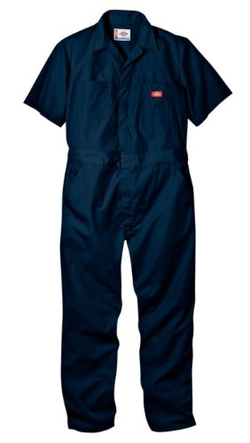 Dickies Men's Short Sleeve Coverall, Dark Navy, X-Large Regular