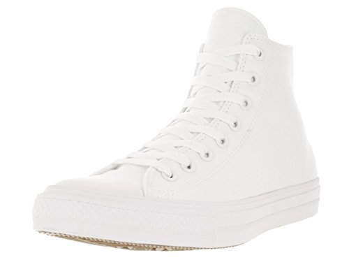 Converse Unisex Chuck Taylor All Star II Hi White/White Basketball Shoe 13 Men US