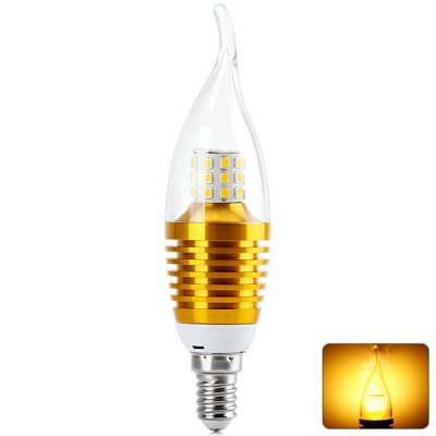 Comple E14 7W 2835-Smd 35 Leds 680Lm Golden Tail-Drawing Warm White Led Candle Lamp Bulb