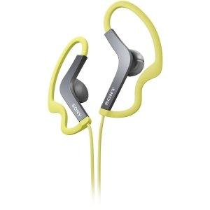 Sony Mdras200/Grn Ear-Loop Headphone Active Sports Style Green Water Resistant