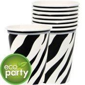 Amscan Zebra 9 Oz Hot Cold Paper Cups - ECO