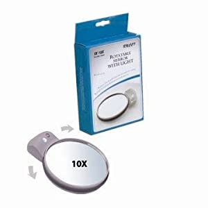 Rucci Rotatable Mirror With Light, 1X-10X