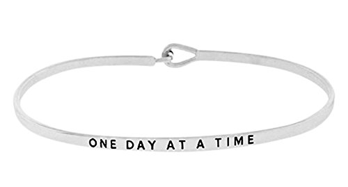 one-day-at-a-time-silver-tone-engraved-thin-brass-bangle-hook-bracelet-for-best-friends-bff-besties