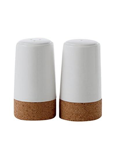 Torre & Tagus 2-Piece Evora Cork & Ceramic Salt & Pepper Set