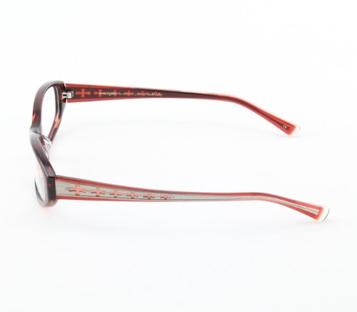 Loree Rodkin LOREE RODKIN BIEHL RUBD Eyeglasses RED FRAME Eye Couture 50mm GOTHIC CROSSES