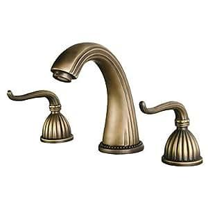 Klm Antique Brass Finish Widespread Bathroom
