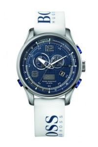 Hugo Boss 1512801 Blue Dial With White Logo Strap Men's Watch