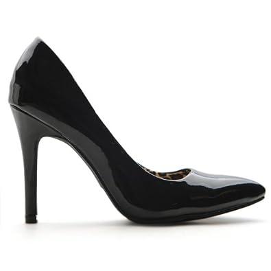 Ollio Women's Winter Elegant Multi Colored Dress High Heel Shoe Pump