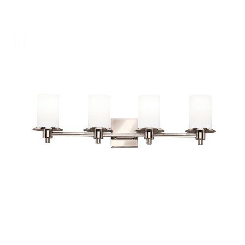 Lovely Kichler Lighting PN Light Cylinders Bathroom Light Polished Nickel