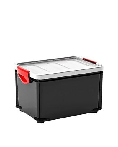 Kis Set Contenitore Organizzazione Spazi 5 pezzi Set 5 Pz. Clipper Box M Grigio Scuro