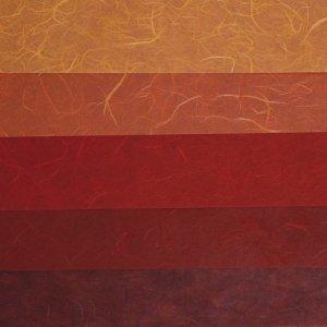 RAYHER - 7137000 - Papier-Set DIN A3 Rot-Töne, SB-Btl. 5 Stück verschiedene Farbtöne