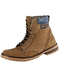 BACCA BUCCI MEN TAN SUEDE LEATHER BOOTS