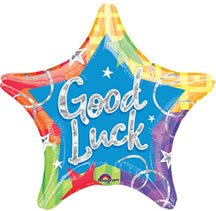 Anagram International A11199501 Good Luck Blitz Prism Packed Balloon, 19""