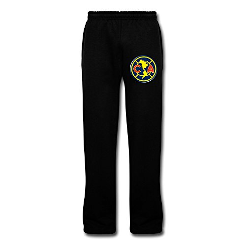 Men's Club Futbol America Logo Design Sweatpants With Pockets L Black By Rahk (Club America Sweats compare prices)