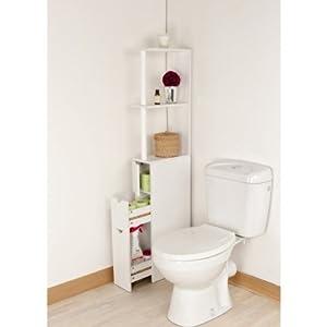 Meuble de rangement toilettes ou salle de bains cuisine maison for Amazon meuble salle de bain
