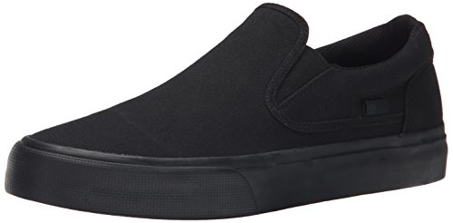 DC Men's Trase Slip-On TX Skate Shoe, Black 3, 8.5 M US