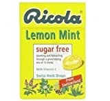 THREE PACKS of Ricola Swiss Herbal Drops Box Sugar Free Lemon Mint 45g
