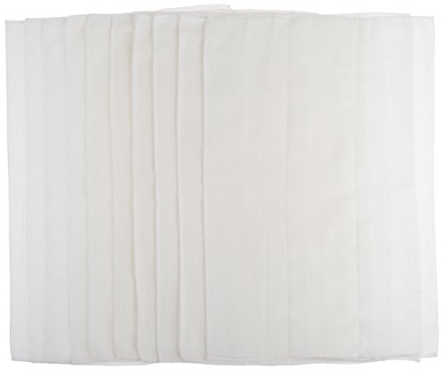 Gerber Birdseye 3-Ply Prefold Cloth Diapers, White, 10 Count