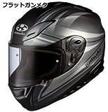 オージーケーカブト(OGK KABUTO)バイクヘルメット フルフェイス AEROBLADE3 LINEA (リネア) フラットガンメタ (サイズ:M)