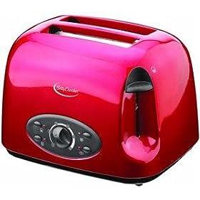 Betty Crocker Appliances BR-602U Red 2-Slice Toaster