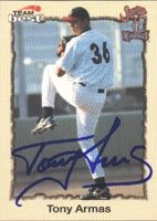 Tony Armas Jr. Jupiter Hammerheads - Expos Affiliate 1998 Team Best Autographed Hand... by Hall of Fame Memorabilia