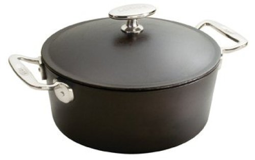 Lodge Signature Dutch Oven with Stainless Steel Handle, 7 qt, 12 Inch Diameter