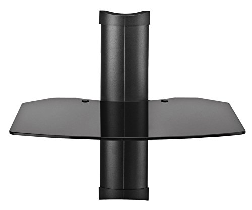 Omnimount Tria 1 B 1-Shelf Wall Furniture - Black/Dark Glass