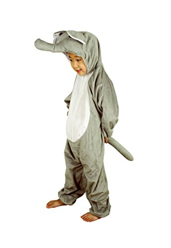 RoarSoar Pretend Play Elephant Costume (Age 7 to 8 Years), Large, One Color (Elephant Kids Costume)