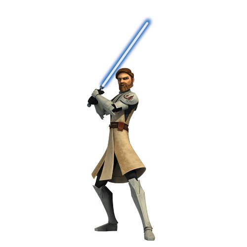RoomMates RMK1403GM Star Wars: the Clone Wars Obi-Wan Glow in the Dark Giant Wall Decal