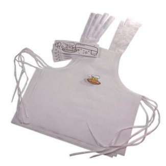 Curious Chef Set of 4 Party Hates & Aprons