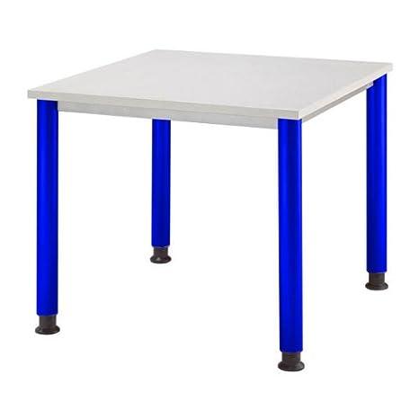 Hammerbacher Desk HS08 grey / blue