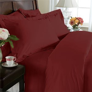 Solid Burgundy 300 Thread Count Full Size (Double Bed) Duvet Cover Set 100 % Egyptian Cotton 3Pc Comforter Cover Set Button Enclosure By Sheetsnthings front-1084404