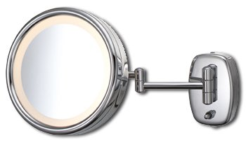 Kimball Young Arm Lighted Wall Mirror Nickel 903Abn5X front-729092
