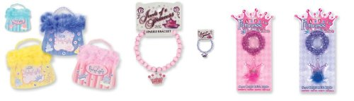 Princess Set, Charm Bracelet, Crown Necklace & Princess Notepad