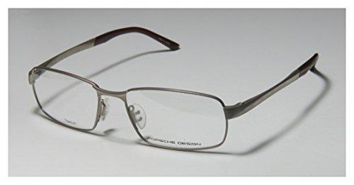 Porsche Design 8212 Mens Rx-able Designer Full-rim Eyeglasses/Spectacles (56-17-145, Gray / Burgundy)