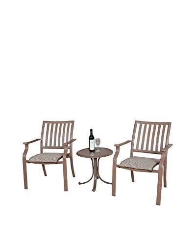 Panama Jack Island Breeze 3-Piece Slatted Balcony Group, Espresso