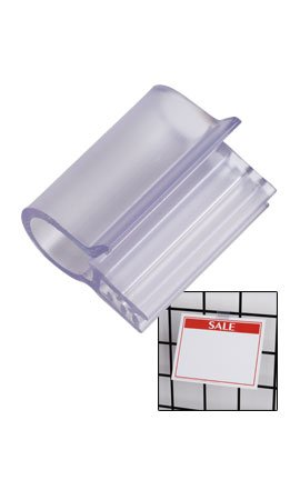 Sign Clip 1w - 20131,• 1 Wide • Plastic Finish • Use with Our Wire Grid • Sold in Packs of 20,attach Signs Onto Baskets, Wire Grids, or Even Cardboard Cartons with These 1 Sign Clips. SSW Itemno 20-131 10 pcs pop store shop point of sign display promotion price tag sign label clip card holder snap clamp shelf price talker
