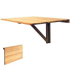 hideaway table rabattable murale finition en pin cuisine maison. Black Bedroom Furniture Sets. Home Design Ideas